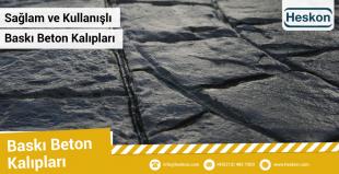 Sağlam ve kullanışlı baskı beton kalıpları